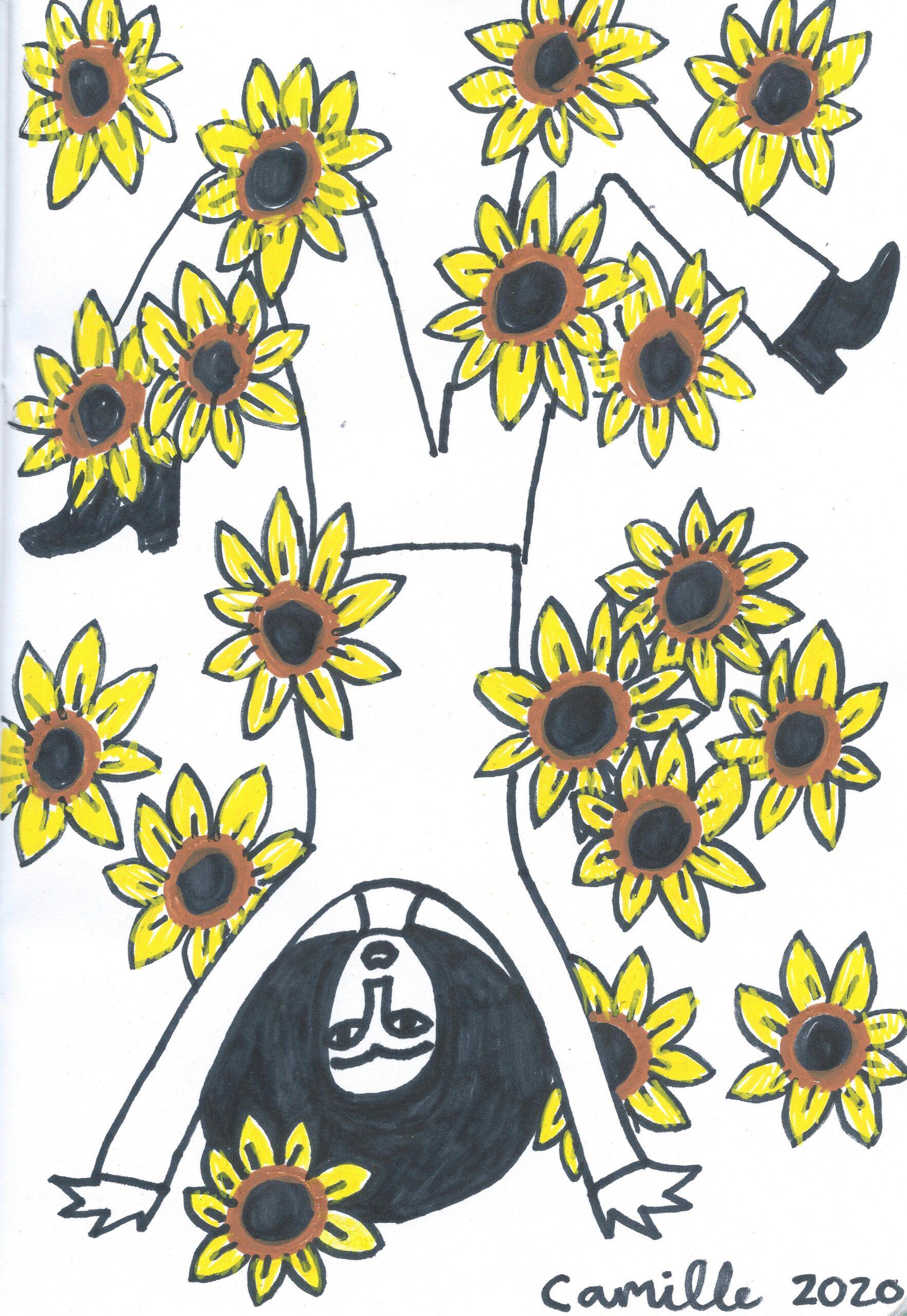 @ 2020, Camille Phoenix, Sunflower Series